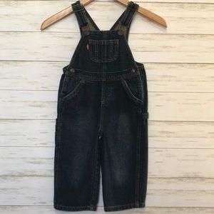 Levi's bib overalls dark denim 24 months